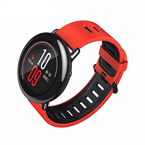 For Xiaomi Amazfit Pace GPS Running Sport Smartwatch Movement Record,Black/Red (Red) by Freshzone