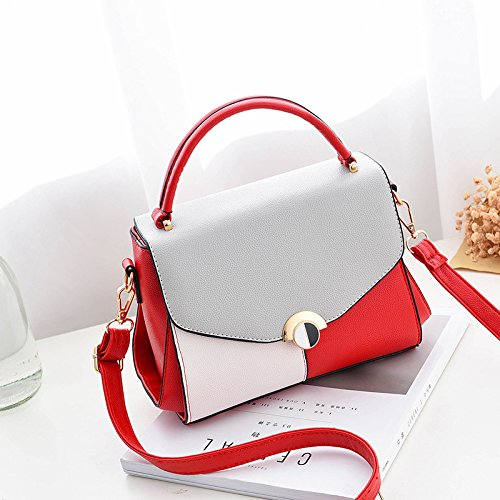Solo Rojo Hombro Cruzando Diagonal GUANGMING77 Hou shoulder Hombro Hombro Bolsa Hou Pequeña De Verano Cruz Messenger Bolso Bag Vino Beau single Plaza Beau Bolso La red wine TUU7xH