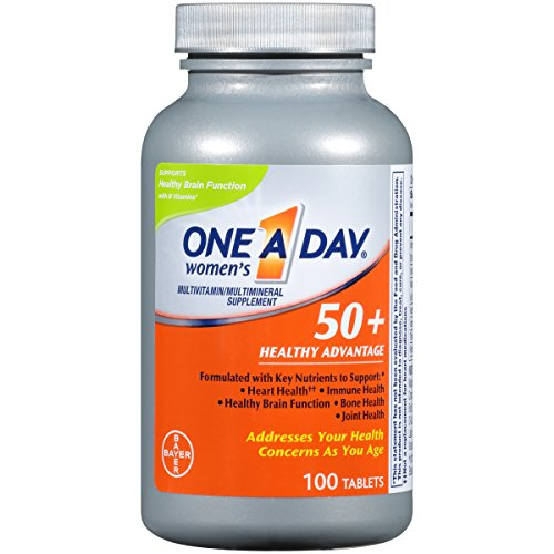 One A Day Women's 50+ Healthy Advantage Multivitamins, Supplement with Vitamins A, C, E, B1, B2, B6, B12, Vitamin D and Calcium, 100 -