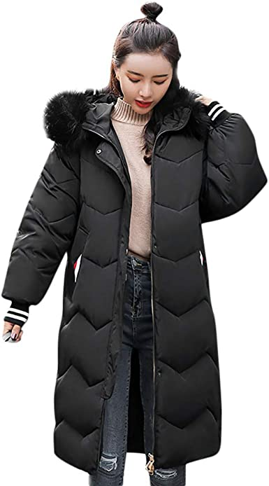 Womens Hooded Puffer Down Coat Long Parka Winter Warm Jacket Outwear Padded New