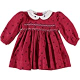 Baby Girl's Red Printed Flowers Long Sleeve Dress (12M)