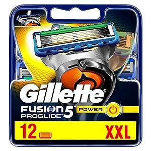 Gillette Fusion 5 ProGlide Power Lot de 12 lames de rasoir avec lame de rasoir pour précision et revêtement lisse
