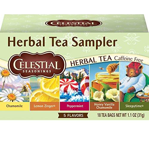 - Celestial Seasonings Herbal Tea, Herbal Tea Sampler, 18 Count (Pack of 6)