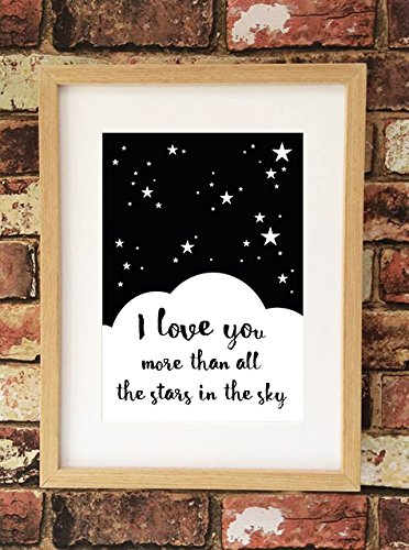 Stars I love You More than all in the sky Romantic Love Valentine