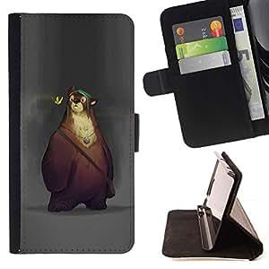 Momo Phone Case / Flip Funda de Cuero Case Cover - Cartoon printemps animaux enfants - HTC Desire 626