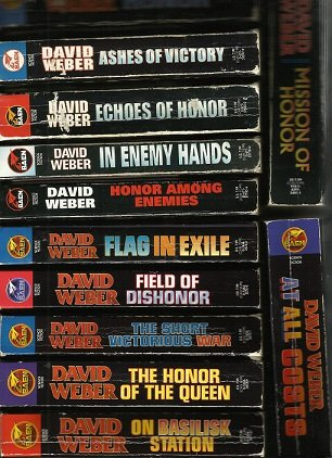 Honor Harrington Series - First 12 Volumes - On Basilisk Station, Honor of the Queen, Short Victorious War, Field of Dishonor, Flag in Exile, Honor Among Enemies, In Enemy Hands, Echoes of Honor...