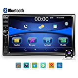 """Car Stereo - Double Din Car Radio Multimedia GPS Navigaiton 7"""" Touch Screen Car Stereo with Bluetooth, Backup Camera /MP5 Player/TF/ USB/FM +Remote Control by Podofo"""