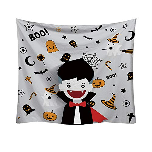 AKwell Home Tapestry Halloween Trick Or Treat Horror Fashion Decorative Tapestry Home Decor Accessories Blanket