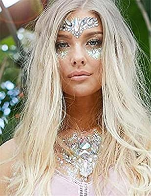 COKOHAPP Glitter Gem Stone Face & Body Temporary Tattoo