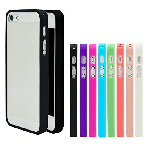 iPhone 5 Case, Costyle Wholesale 8pcs/lot 8 Colors Soft Trim High Clear Back Hard Cover Bumper Case Skin for New iPhone 5 SE 5G 5S 5GS from Costyle
