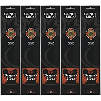 Dragon Blood 20 Stick Count 12x Packs Gonesh Classic Incense Sticks Extra Rich