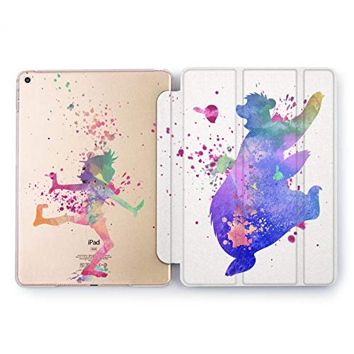 Wonder Wild The Jungle Book Hard Case iPad 5th 6th Generation Mini 1 2 3 4 Air Tablet Pro 10.5 12.9 2018 2017 9.7 inch Cover Cartoon Watercolor Painted Movie Funny Cute Bear Baloo Mowgli Walt Disney -