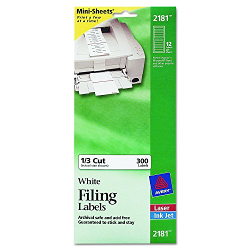 Discount Avery Mini-Sheets Labels, 3.4735 x 0.66 Inches, White, 300 per Pack (2181) supplier