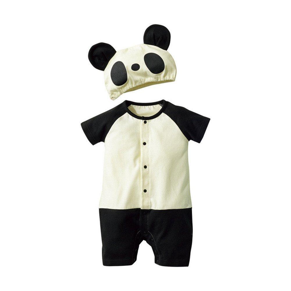 Jojobaby Baby Unisex 2Pcs Baby Clothes Fruit//Animal Bodysuit with Hats