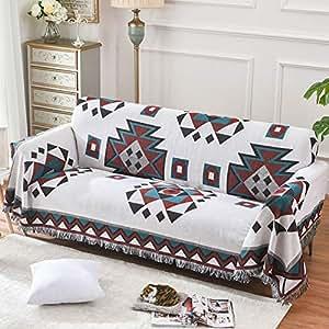 Amazon.com: Sencilla manta de sofá Jacquard, funda de sofá ...
