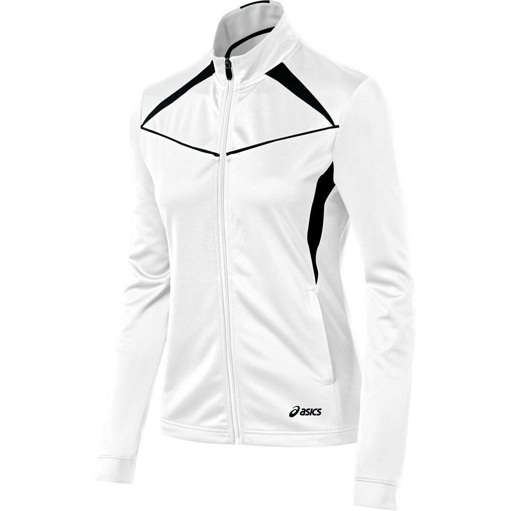 ASICS Women's Cali Jacket, White/Black, Small by ASICS