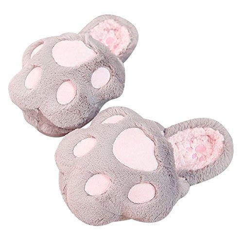 Chaudes Gris Femme Pantoufles Size 35 Maison Hiver Coton 40 Chaud Intérieure Peluche Lovely Chaussons Anderlay ZqwB06x