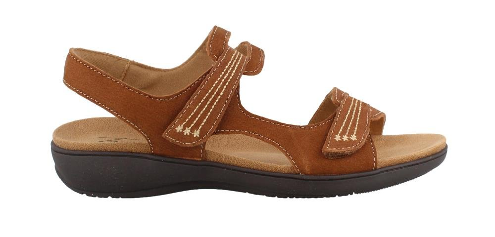 Trotters Womens Katarina Open Toe Casual Ankle Strap Sandals B078Q8R13V 7.5 XW US|Cognac