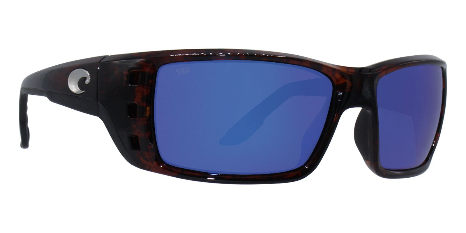 Costa Del Mar Permit Sunglass, Tortoise/Blue Mirror 580Glass by Costa Del Mar