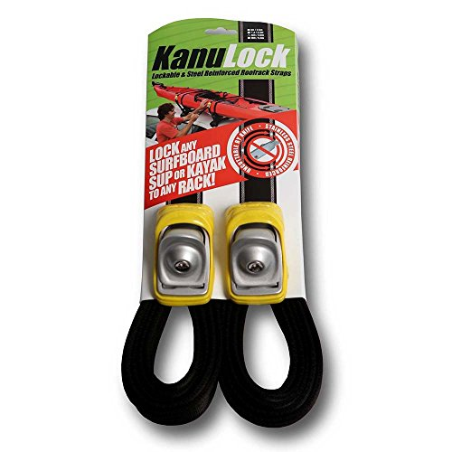 - KanuLock Lockable Reinforced Stainless Steel Tie Down Straps 13 Foot