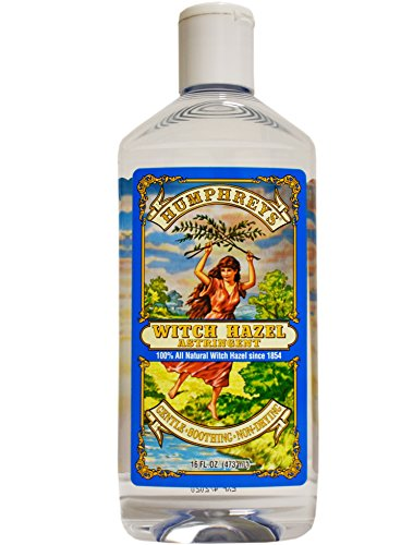 Homeopathic Remedies Hazel Witch (Humphrey's Witch Hazel Astringent 100% All Natural Witch Hazel 16 Ounce)