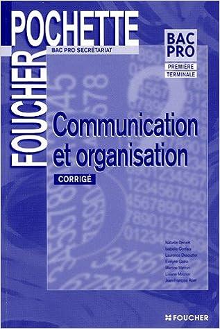 läsa Communication et organisation 1e et Tle Bac Pro serétariat : Corrigé pdf epub