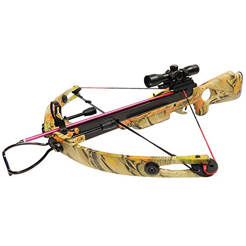 150-lb-Black-Wood-Camouflage-Hunting-Compound-Crossbow-Archery-Bow-Rail-Lube-8-Bolts-Arrows-180-175-80-50