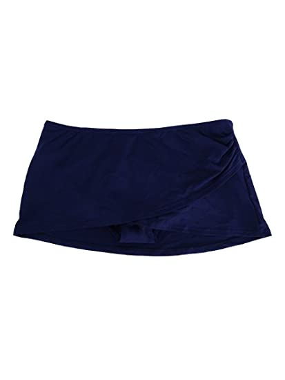 f16f15d78c Amazon.com: Anne Cole Womens Sarong Swim Skirt Navy, M: Clothing