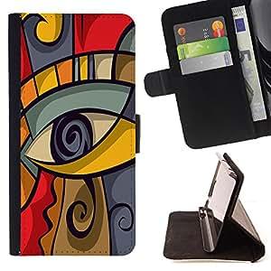 King Case - FOR Samsung Galaxy S4 IV I9500 - ?we had never encountered - Prima caja de la PU billetera de cuero con ranuras para tarjetas, efectivo Compartimiento desmontable y correa para la mu?eca