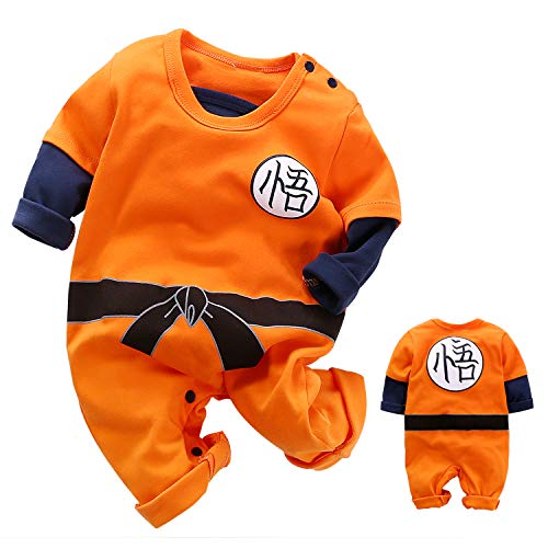 YFYBaby Newborn Boys Dragon Ball Son Goku Romper Cute Costumes Halloween Party Orange]()