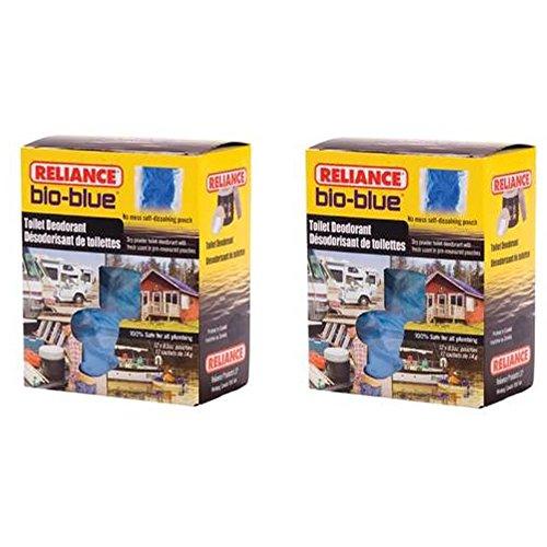 Bio Blue Toilet (Reliance 2 Boxes - 24 packets Reliance Bio Blue Chemical Toilet)