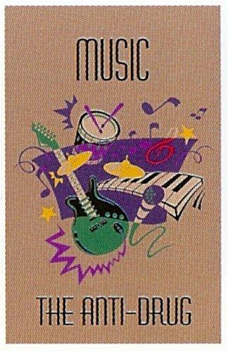 Guardian MLL-00003795 ''Music The Anti-Drug'' Printed Message Indoor Floor Mat, 3' x 5', Brown
