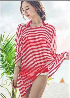 qxj Bikini bañadores de playa de chifón de perchero de pared ...