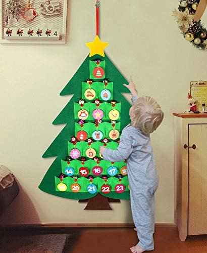 Halloween Loop 2019 (OurWarm Christmas Advent Calendar 2019 for Kids, 24 Days Felt Christmas Tree Countdown Calendar Flip Pattern and Number for Home Holiday Christmas)