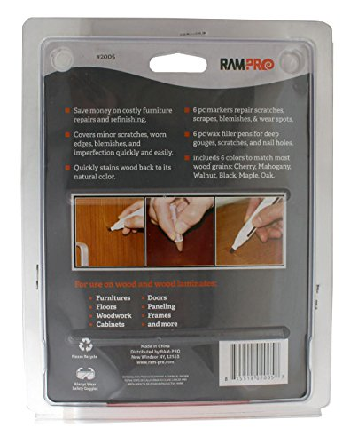 RamPro-Total-Furniture-Repair-System-12Pc-Scratch-Restore-Repair-Touch-Up-Kit-Felt-Tip-Markers-Wax-Stick-Crayons