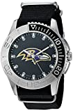 Game Time Men's 'Starter'  Metal and Nylon Quartz Analog  Watch, Color:Black (Model: NFL-STA-BAL)