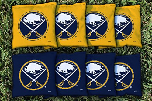 Victory Tailgate 8 Buffalo Sabres NHL Cornhole Game Bag Set (8 Bags Included, Corn-Filled) (Buffalo Sabres Bar)