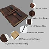 Leather Journal Writing Notebook - Genuine