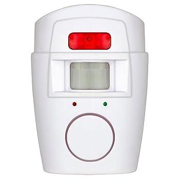 MIOIM Alarma de Sensor de Movimiento Inalámbrico PIR con 2 Controles Remotos