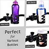 Universal Stroller Cup Holder by Makady | Attachable Drink Holder for Baby Stroller,Bike,Wheelchair,Pushchair | Pack of 2 Hooks for Extra Storage