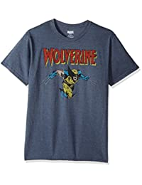 Marvel Mens Wolverine Classic Character Logo T-Shirt