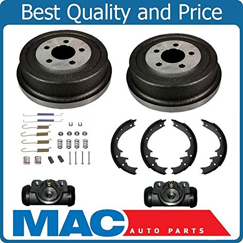 (Rear Brake Drums Shoes Spring Kit Wheel Cylinder For 2002 Jeep Liberty)