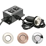 Insinkerator Sts 00 Parts Garbage Disposal Air Switch, DUAL OUTLET Sink Top / Counter Top Waste Disposal On/Off Switch For Insinkerator, Waste King Garbage Disposals Without A Switch by Essential Values (Satin/Brushed Nickel)