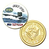 U.S Navy USS Grayling (SSN-646) printed Challenge coin