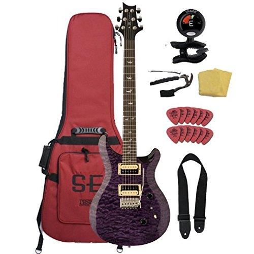- PRS SE 30th Anniversary Custom 24 Electric Guitar Bundle with Gig Bag- Amethyst