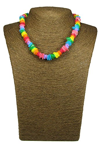 - Exotic & Trendy Jewelry, Books and More Puka Necklace-18 Inch-Surfer Necklace-Tropical Necklace-Beach Necklace - Shell Necklace-Hawaiian Necklace-Beach Necklace (Rainbow Style-2)