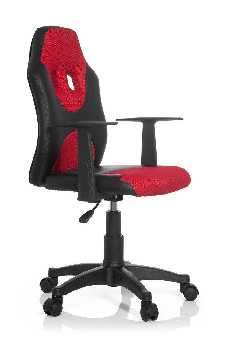 hjh OFFICE KID RACER AL barnstol med armstöd – svart/orange Svart/rött