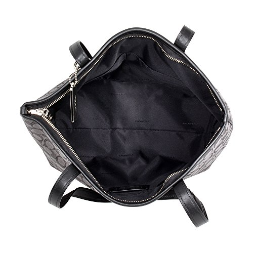 black Borsa Coach Smoke Donna Spalla Silver black A qrXxO7r