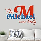 Decordo Name Wall Decal/Boys Girls Room/Custom Name Sticker/Personalized Wall Decal/The Family Name Decal