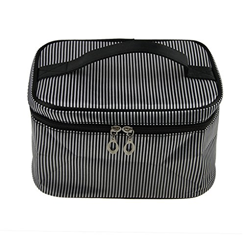 Fakeface Large Capacity Stripes Carrying on Handle Zipper La
